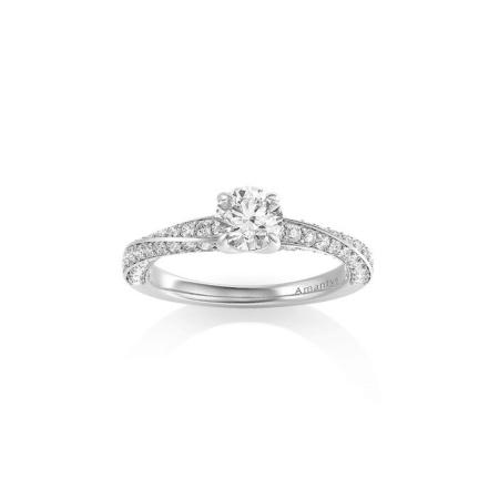 Bague Courbe en or blanc et diamants - AMANTYS