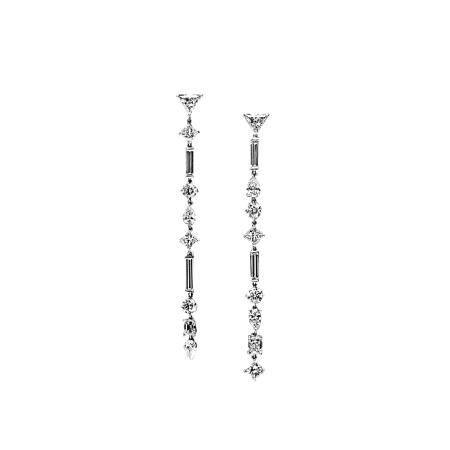 Boucles d'oreilles Délicatesse en or blanc et diamants - WASKOLL