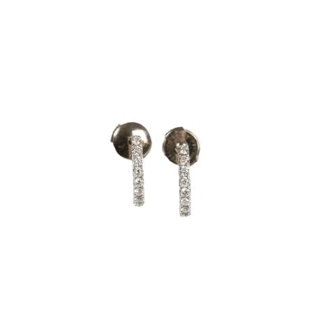 Boucles d'oreilles Ernestine en or gris et diamants - IN ORBEM
