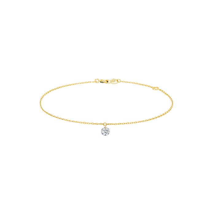 Bracelet 360° en or jaune et diamant - LA BRUNE ET LA BLONDE