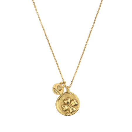 collier-medaille-trefle-talisman -en-or-jaune-goossens