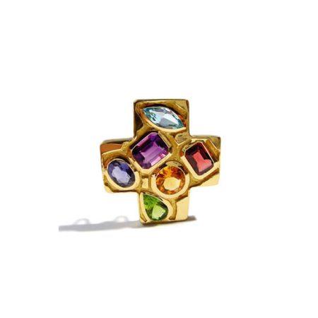 pendentif-grande-croix -en-or-jaune-et-pierres-fines-helene-courtaigne-delalande
