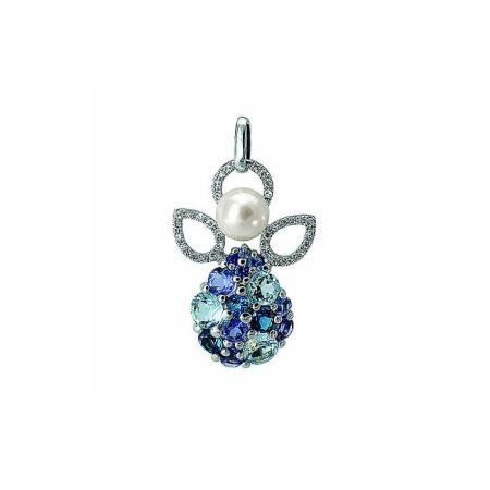 pendentif-ange-gabriel-en-or-blanc-perle-saphirs-topazes-bleues-traitees-cordierites-et-diamants-isabelle-langlois