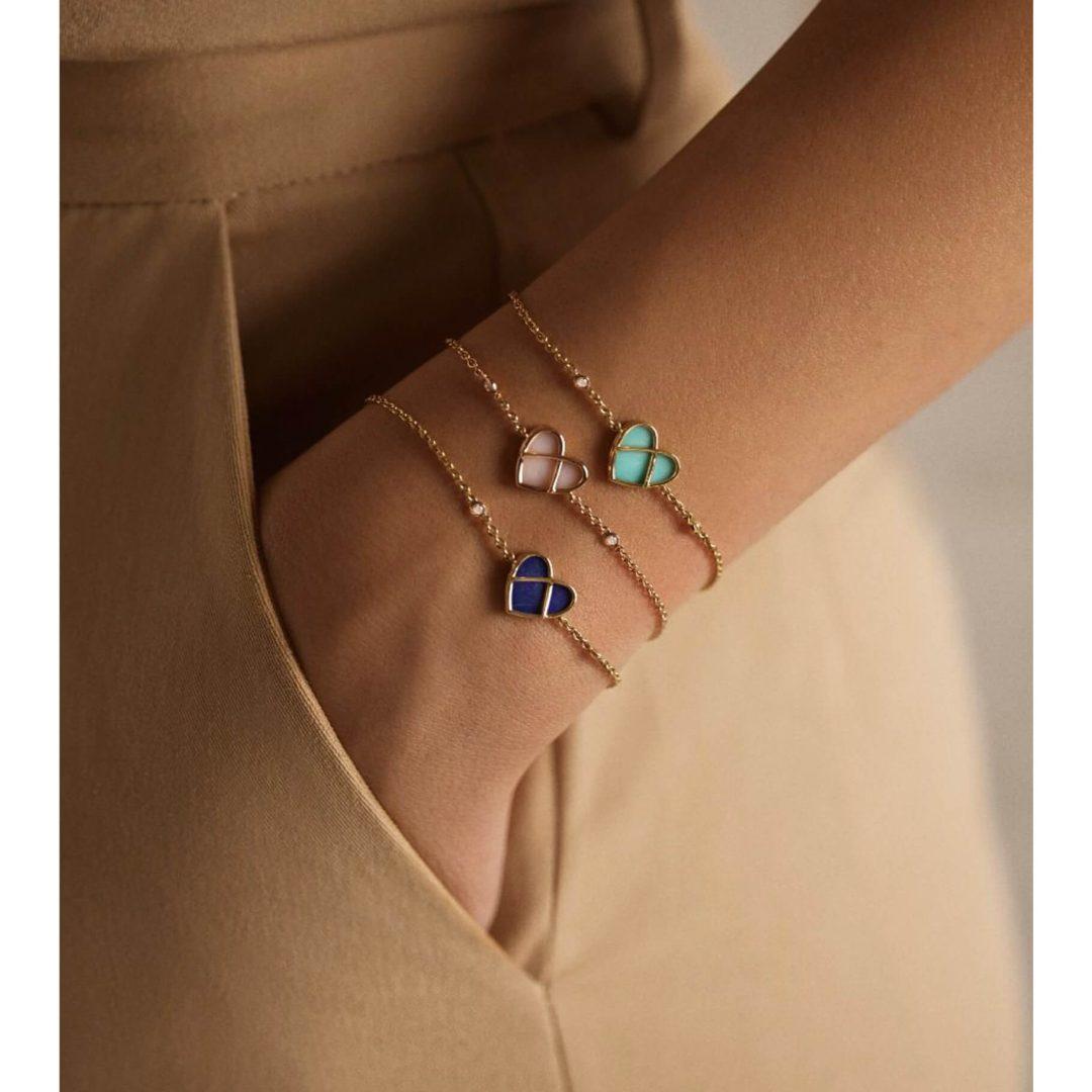 Poiray bracelet Coeur entrelacé
