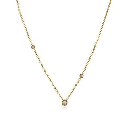 "Collier ""Hextra"" en or jaune et diamants – INSOLITE JOAILLERIE"