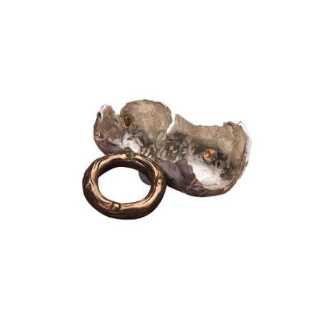 """Bague """"Balot"""" en argent, bronze, péridot et citrines – CAROLINE VOLCOVICI"""
