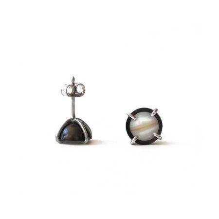 """Boucles d'oreilles """"Atlas"""" en argent et perles de culture – CLÉMENTINE DESPOCQ"""