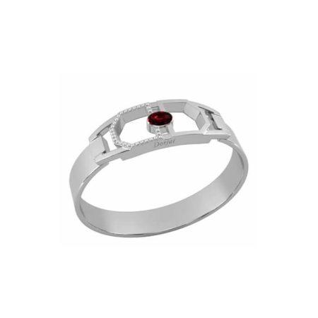 """Bracelet """"Clip Darshan"""" en argent massif, grenat et diamants – DORJAI PARIS"""