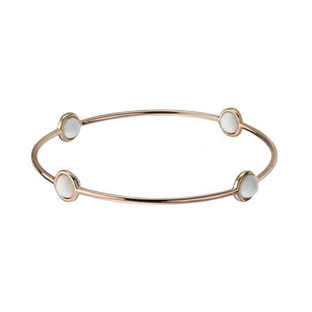 Garaude Paris Bracelet Or rose et perles d'agates orbitale