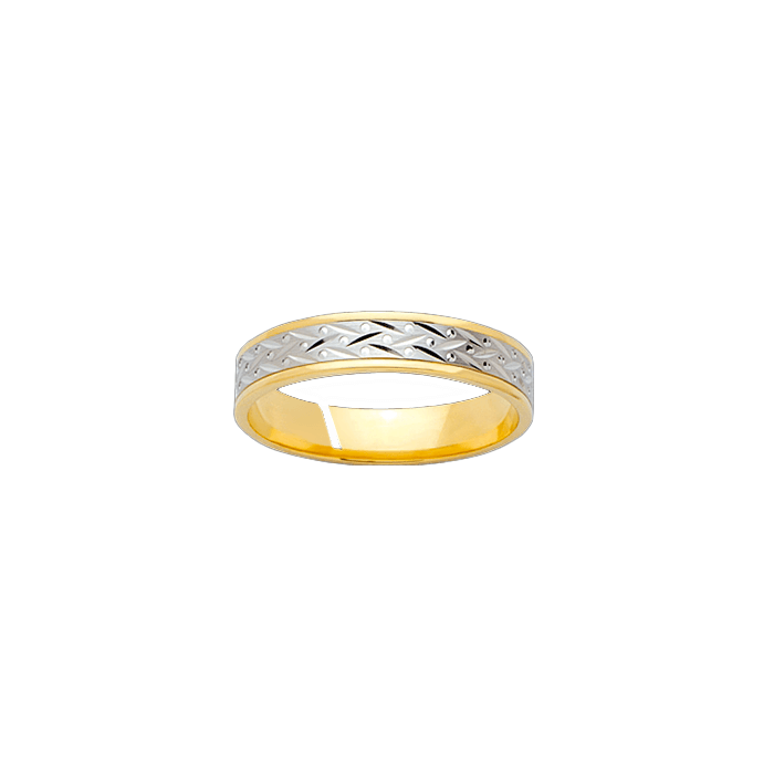 Alliance en or jaune et or blanc - OREST