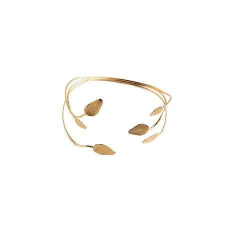 """Bracelet jonc """"Murmure"""" doré à l'or fin - LAURE MORY BIJOUX"""